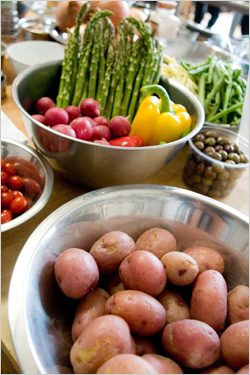 Aphrodite Cooks - fresh class ingredients
